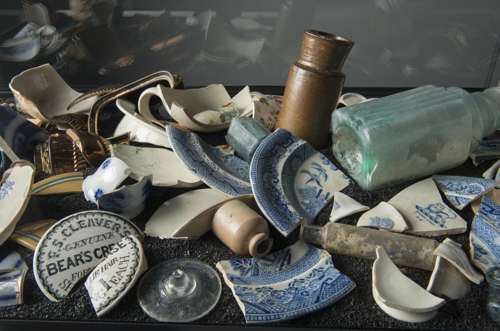 Finds from Dickens Square archaeological dig on show at museum