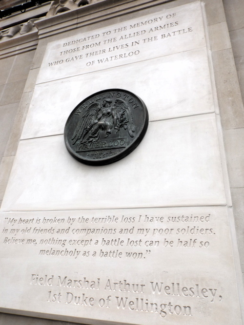 Duke of Wellington unveils Battle of Waterloo memorial at station