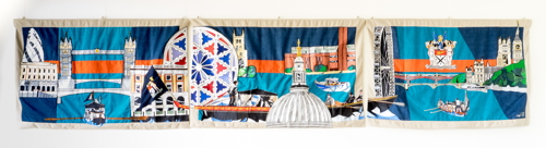 6-metre City & Southwark wall hanging unveiled at Glaziers Hall