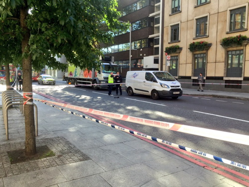 Pedestrian and motorcyclist injured in Southwark Street collision