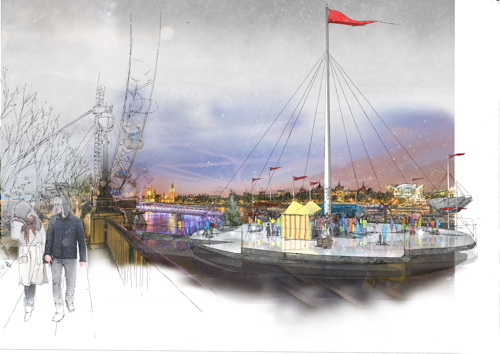 Architects devise South Bank ice rink concept