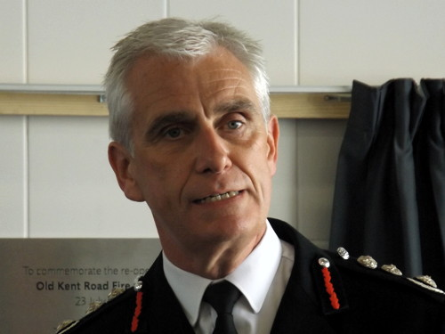 London Fire Commissioner Ron Dobson