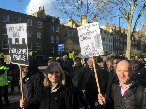 Hundreds march against Housing & Planning Bill