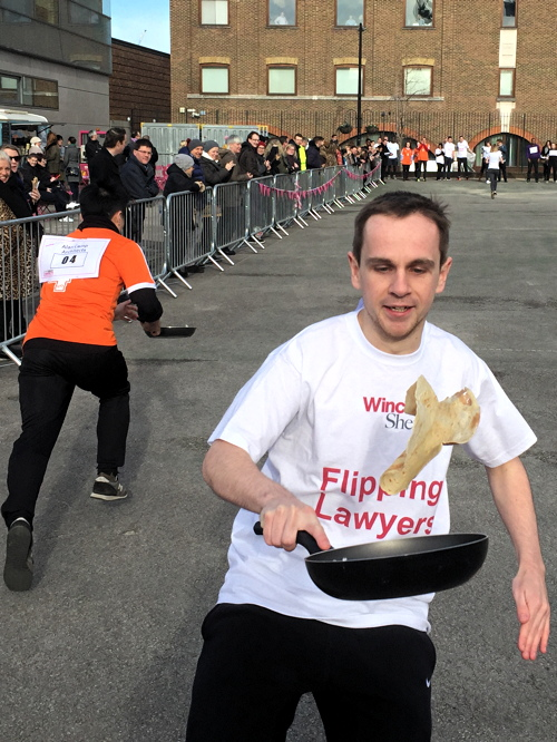 SE1 businesses mark Shrove Tuesday with three pancake races