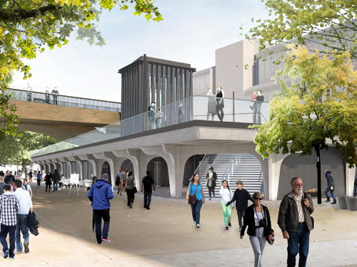 Artist's impression of South Bank Landing (from london-se1.co.uk)