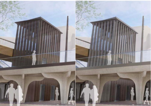 Two shades of grey: Garden Bridge tweaks South Bank lift shaft