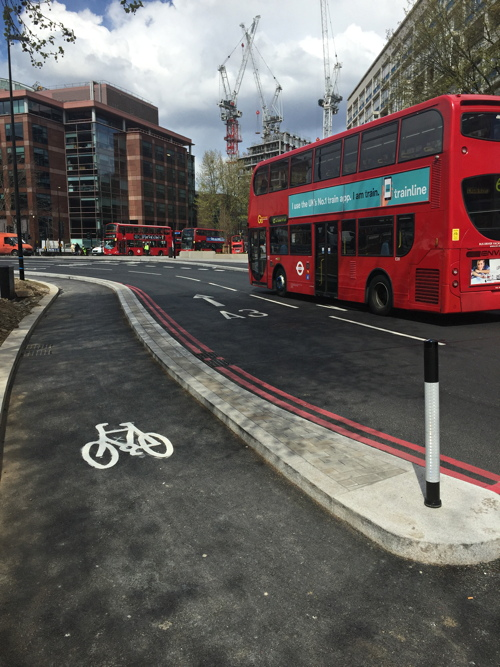 Elephant & Castle: segregated cycle lanes now open
