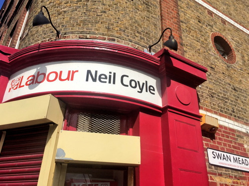 Police outside Neil Coyle's surgery but 'protest' doesn't happen