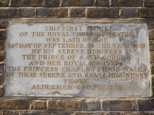 The Old Vic: foundation stone laid 200 years ago