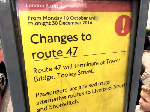 TfL curtails bus route 47 to ease Tower Bridge congestion