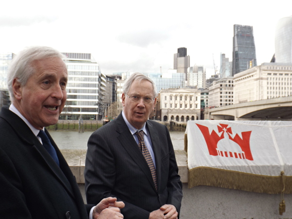 40 years of Jubilee Walkway: Duke of Gloucester unveils panel at Bankside