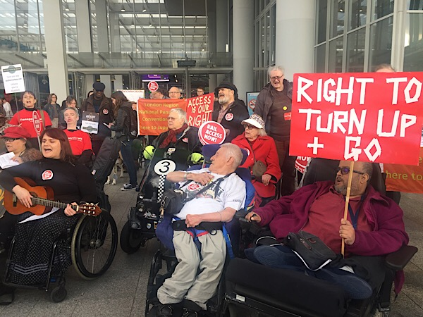 Disabled passengers stage Southern rail protest at London Bridge