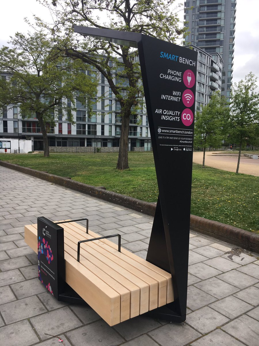 'Smart benches' with free wifi & USB chargers coming to Southwark