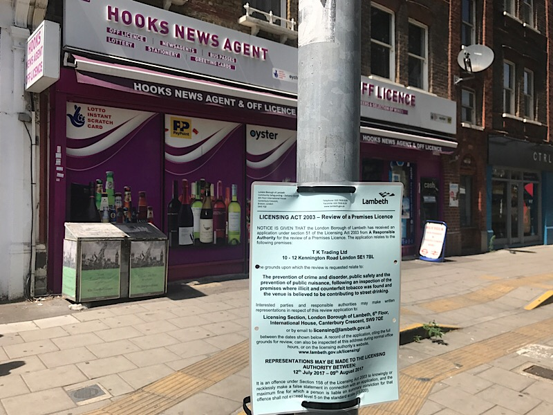 Lambeth North newsagents faces licence review over tobacco claims