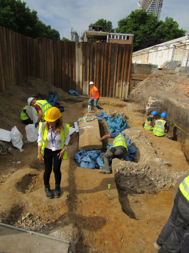 Roman sarcophagus found at Swan Street construction site