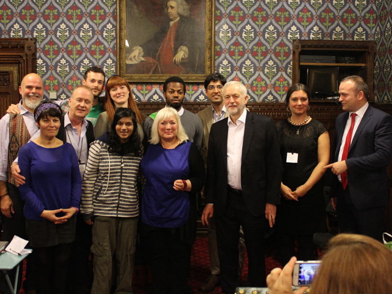 Corbyn joins Coyle for Commons performance of food bank play