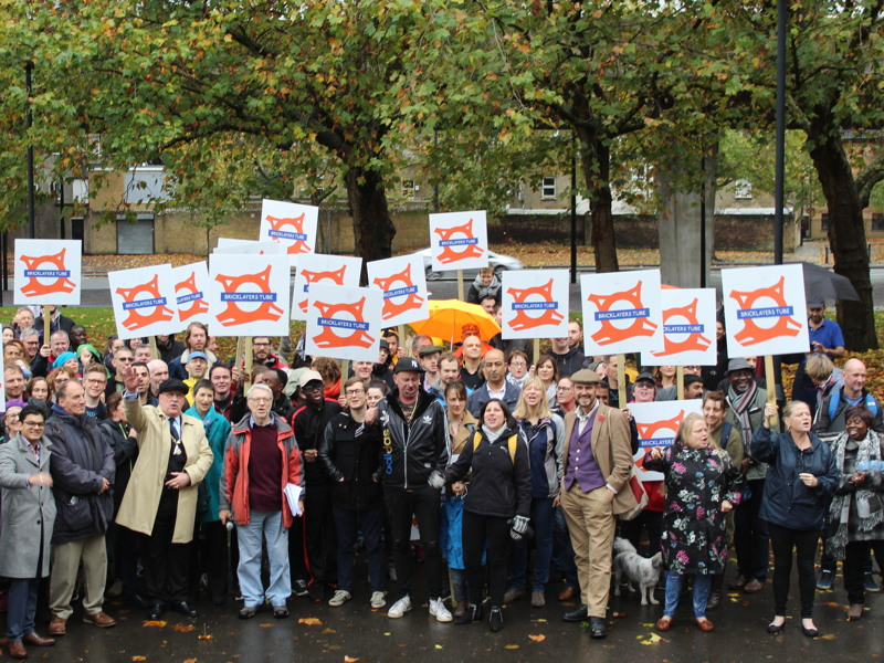 Bricklayers Arms: locals rally to tell TfL 'we want tube station'