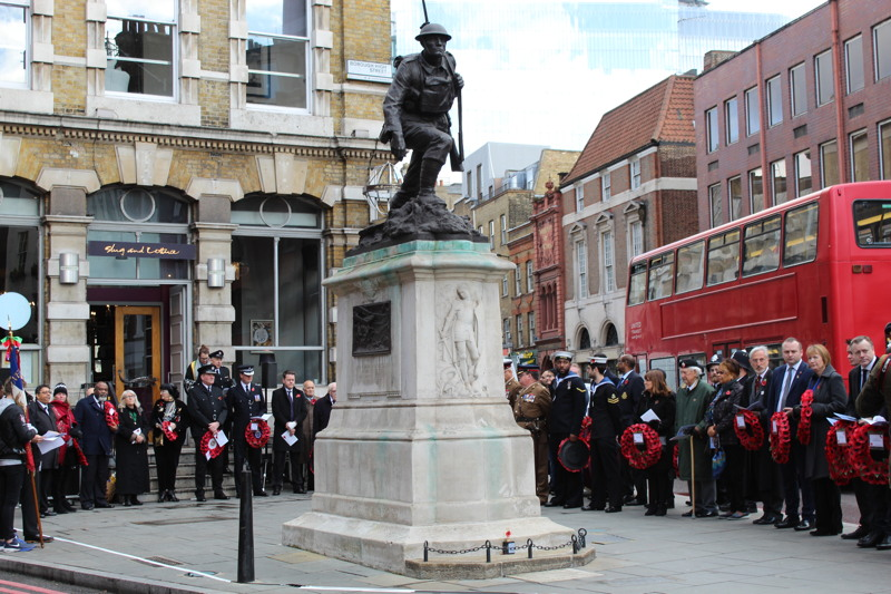 Armistice Day and Remembrance Sunday 2017 in SE1