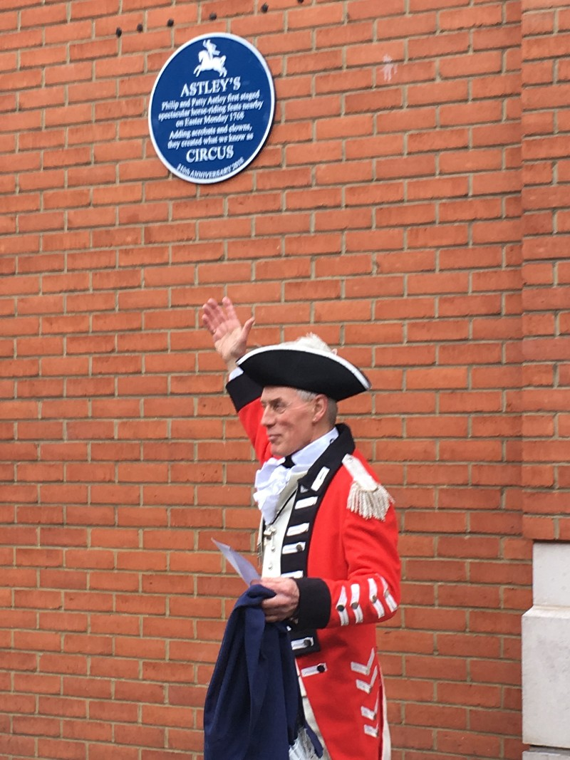 250 years on, plaque unveiled near site of first circus
