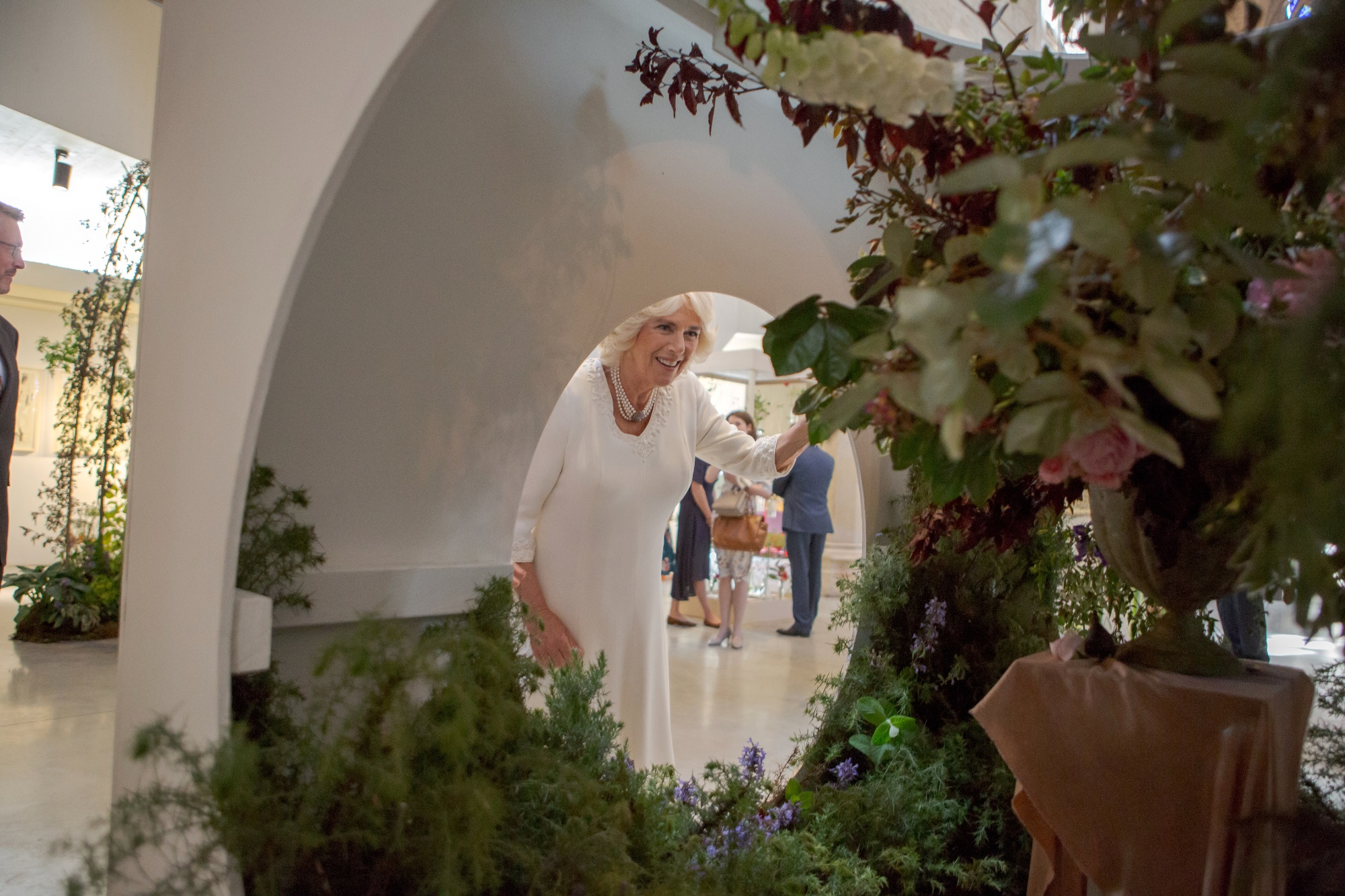 British Flowers Week: Duchess of Cornwall visits Garden Museum