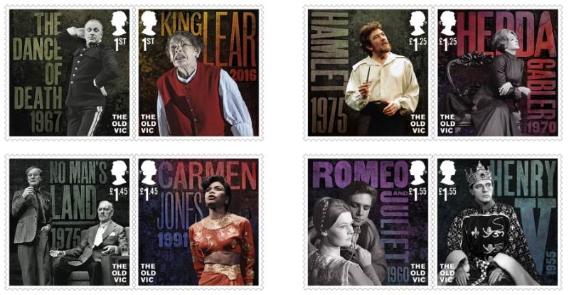 Royal Mail issues special stamps for Old Vic bicentenary
