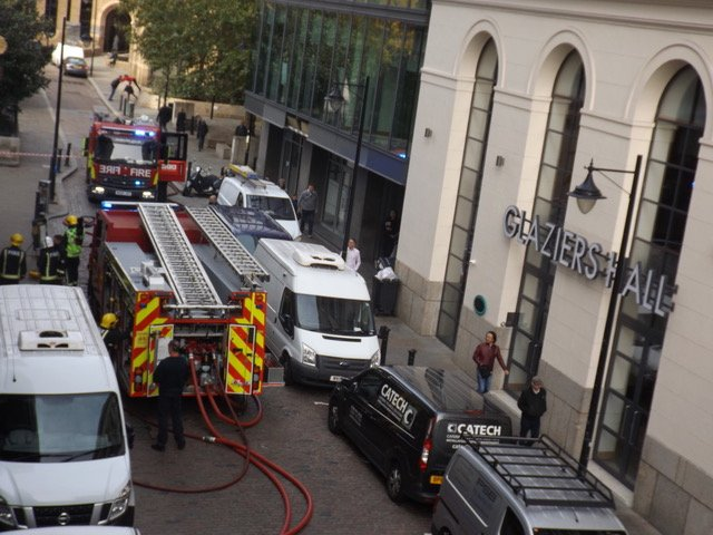 Fire at Mudlark pub next to London Bridge