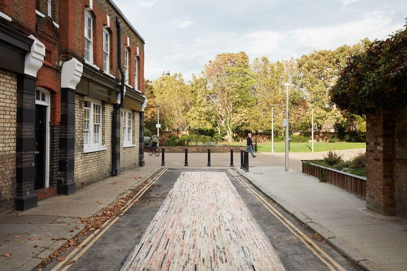 Mint Street resurfaced with recycled marble