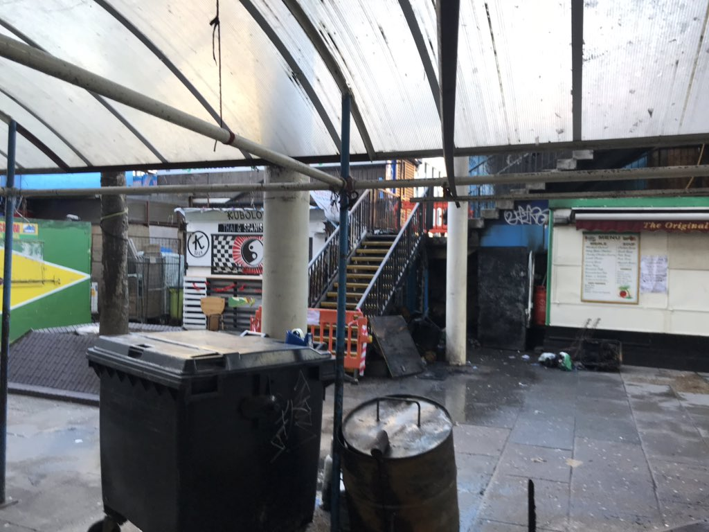 Fire at Elephant & Castle Market 'started by discarded cigarette'
