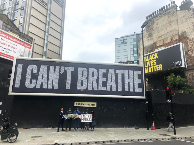 Black Lives Matter billboard unveiled at Lambeth North