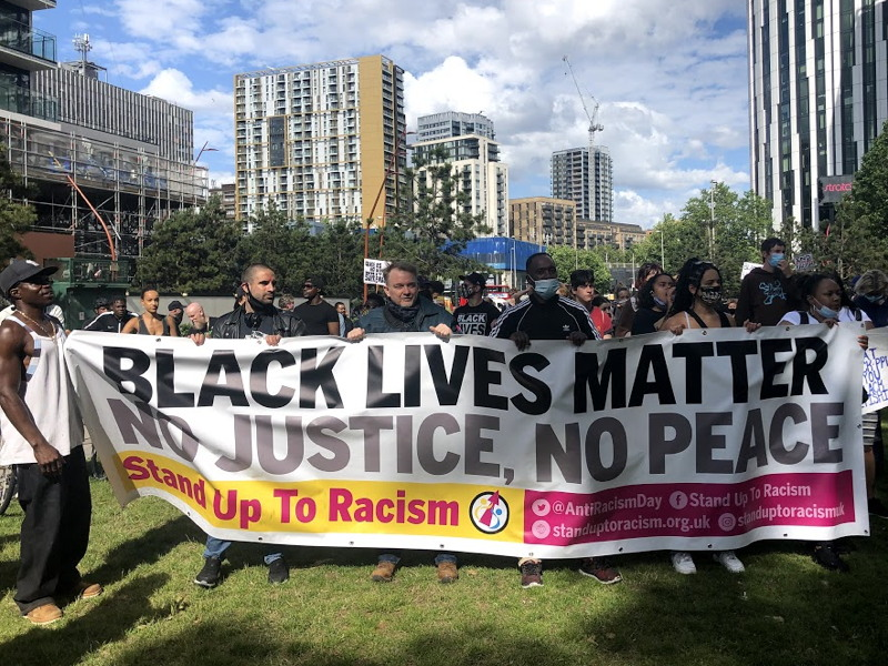 Black Lives Matter march from Burgess Park to Elephant & Castle