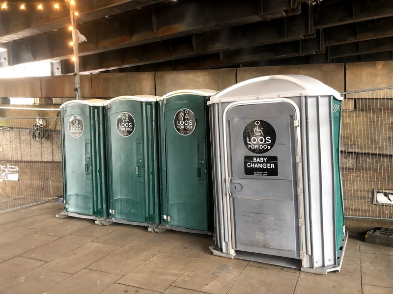 Portable toilets installed on South Bank
