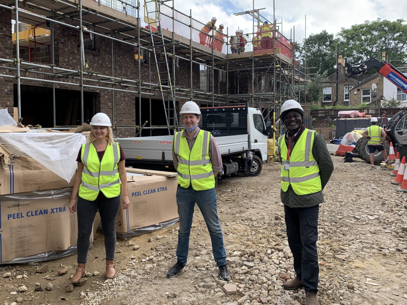 Work under way on 10 new council homes in South Bermondsey