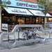 Car-shaped bike rack migrates from Lower Marsh to The Cut
