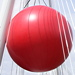 Giant red ball appears on Golden Jubilee Bridge