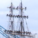 Tall ship Stavros S Niarchos arrives in Pool of London