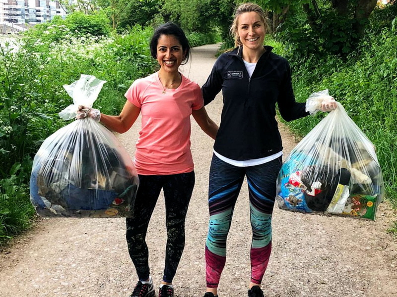 Plogging in Bermondsey at London City Runners Clubhouse